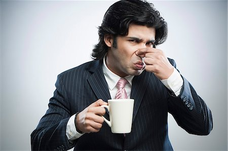 smelly - This coffee tastes bad Stock Photo - Premium Royalty-Free, Code: 630-06724741