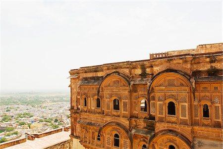 Fort with cityscape, Meherangarh Fort, Jodhpur, Rajasthan, India Stock Photo - Premium Royalty-Free, Code: 630-06721808