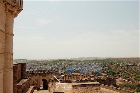 Fort with cityscape, Meherangarh Fort, Jodhpur, Rajasthan, India Stock Photo - Premium Royalty-Free, Code: 630-06721811