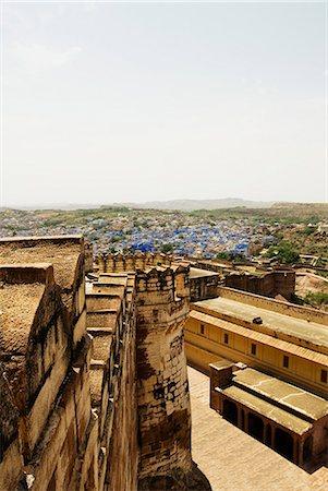 Fort with cityscape, Meherangarh Fort, Jodhpur, Rajasthan, India Stock Photo - Premium Royalty-Free, Code: 630-06721812