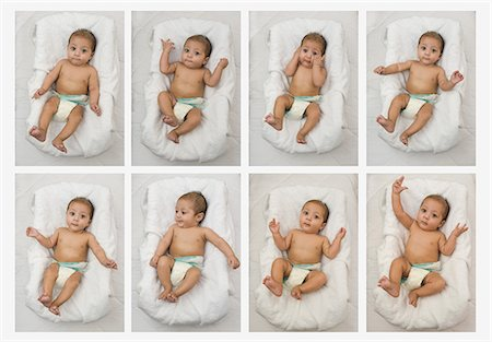east indian (male) - Multiple images of a baby boy Stock Photo - Premium Royalty-Free, Code: 630-06721968