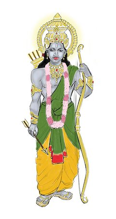 Lord Rama Stock Photo - Premium Royalty-Free, Code: 630-06723768