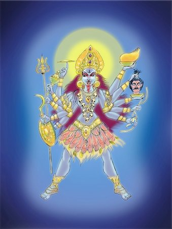 Goddess Kali Stock Photo - Premium Royalty-Free, Code: 630-06723773
