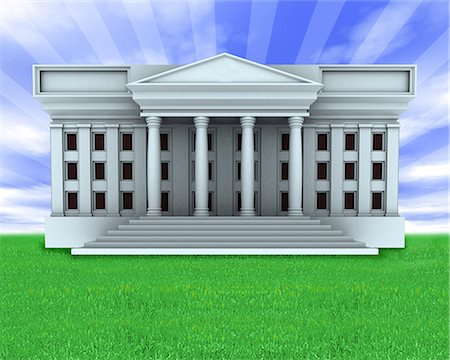 Facade of a government building Stock Photo - Premium Royalty-Free, Code: 630-06723794