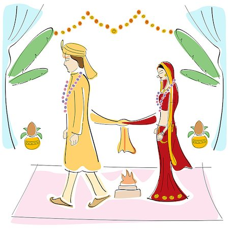 Newlywed couple at wedding ceremony Stock Photo - Premium Royalty-Free, Code: 630-06723842