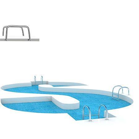 Dollar shaped swimming pool Stock Photo - Premium Royalty-Free, Code: 630-06723901