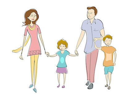 Parents with their children Stock Photo - Premium Royalty-Free, Code: 630-06723937