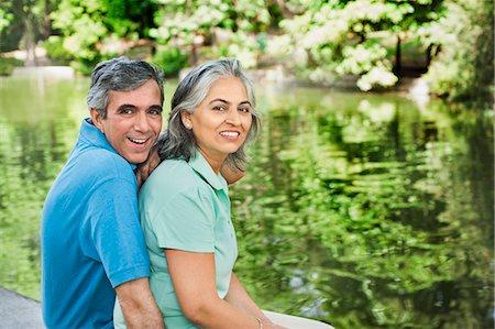 Portrait of a mature couple smiling, Lodi Gardens, New Delhi, India Stock Photo - Premium Royalty-Free, Code: 630-07071251