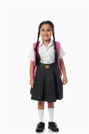 school girl uniforms - Schoolgirl smiling Stock Photo - Premium Royalty-Free, Code: 630-07071792