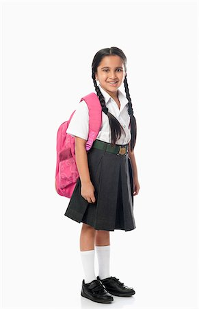 school girl uniforms - Schoolgirl smiling Stock Photo - Premium Royalty-Free, Code: 630-07071793
