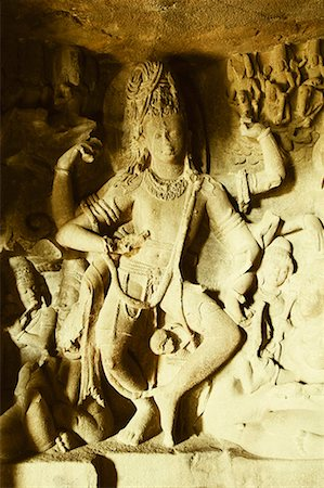 Statues in a cave, Ellora, Aurangabad, Maharashtra, India Stock Photo - Premium Royalty-Free, Code: 630-01709038