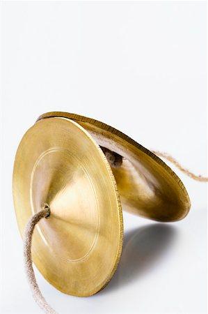 Close-up of a pair of manjiras Stock Photo - Premium Royalty-Free, Code: 630-01876048