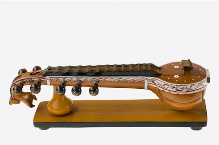 Close-up of a sitar Stock Photo - Premium Royalty-Free, Code: 630-01876101