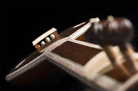 Close-up of a sitar Stock Photo - Premium Royalty-Free, Code: 630-01876227