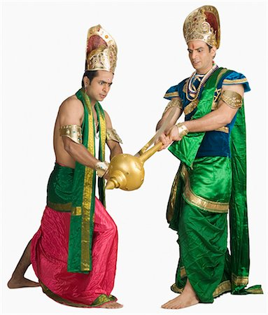 sad lovers break up - Two young men fighting in a character of Hindu epic Stock Photo - Premium Royalty-Free, Code: 630-03479562