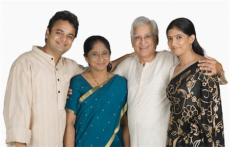 Portrait of a family smiling Stock Photo - Premium Royalty-Free, Code: 630-03479728