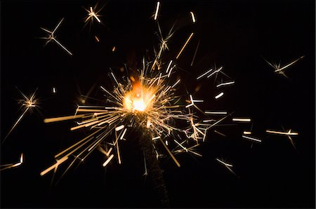 spark - Close-up of a firecracker burning Stock Photo - Premium Royalty-Free, Code: 630-03480174