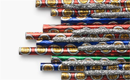 fireworks white background - Close-up of bottle rockets and sparklers Stock Photo - Premium Royalty-Free, Code: 630-03480170