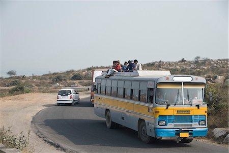 Bus on the road, Gurgaon, Haryana, India Stock Photo - Premium Royalty-Free, Code: 630-03480517