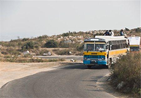 Bus on the road, Gurgaon, Haryana, India Stock Photo - Premium Royalty-Free, Code: 630-03480510
