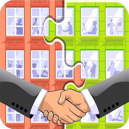 Two businessmen shaking hands Stock Photo - Premium Royalty-Free, Code: 630-03481324