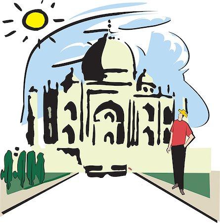 Facade of a mausoleum, Taj Mahal, Agra, Uttar Pradesh, India Stock Photo - Premium Royalty-Free, Code: 630-03481485