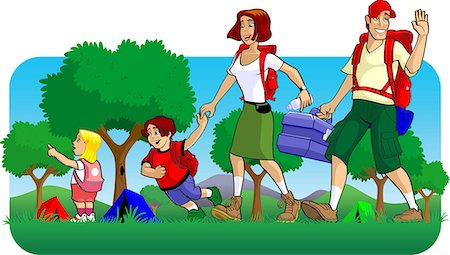 Family at a picnic Stock Photo - Premium Royalty-Free, Code: 630-03481497