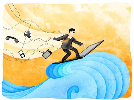Businessman surfing the net Stock Photo - Premium Royalty-Free, Code: 630-03481503