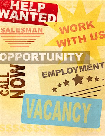 Posters of advertising Jobs Stock Photo - Premium Royalty-Free, Code: 630-03481820