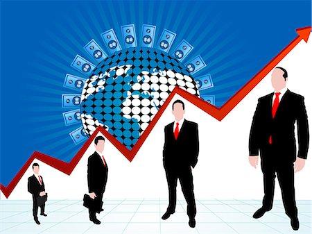 represented - Illustrative representation of global profit Stock Photo - Premium Royalty-Free, Code: 630-03482106