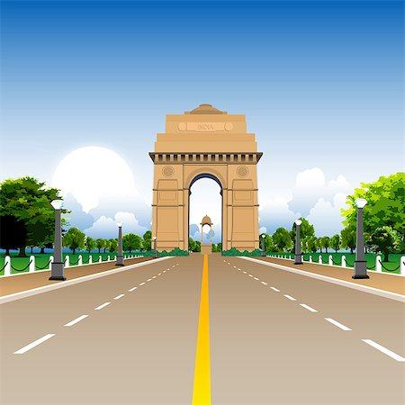 Facade of a war memorial, India Gate, New Delhi, India Stock Photo - Premium Royalty-Free, Code: 630-03482218