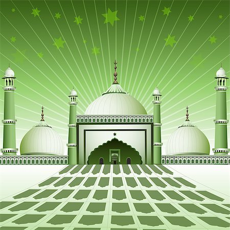Facade of a mosque, India Stock Photo - Premium Royalty-Free, Code: 630-03482213