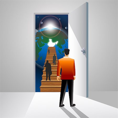 scope - Business executives moving up a staircase, India Stock Photo - Premium Royalty-Free, Code: 630-03482244