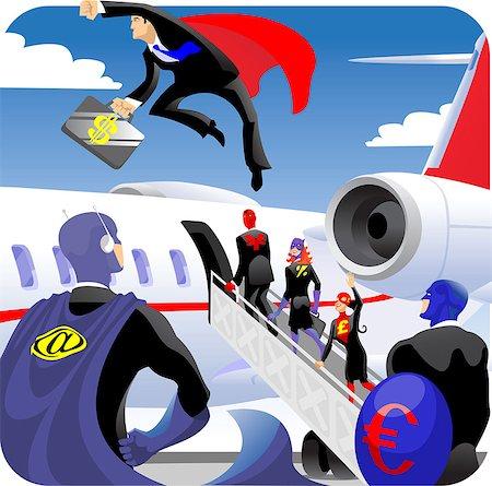 Illustrative representation of business travel Stock Photo - Premium Royalty-Free, Code: 630-03482560