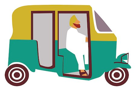 Close-up of an auto rickshaw, India Stock Photo - Premium Royalty-Free, Code: 630-03482575