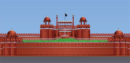 Facade of a fort, Red Fort, Delhi, India Stock Photo - Premium Royalty-Free, Code: 630-03482571