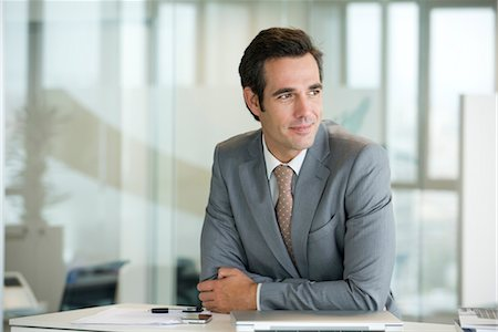 portrait looking away - Male executive, portrait Stock Photo - Premium Royalty-Free, Code: 632-05401273
