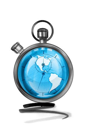 stop watch - Globe in stopwatch Stock Photo - Premium Royalty-Free, Code: 632-05554229