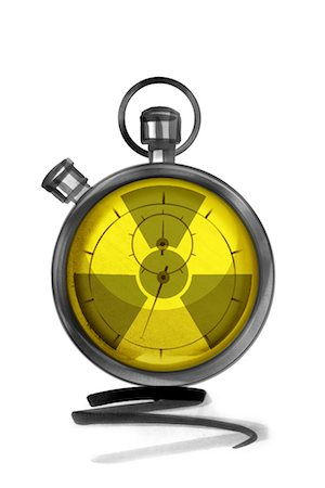 stop watch - Stopwatch with radiation warning symbol Stock Photo - Premium Royalty-Free, Code: 632-05554245