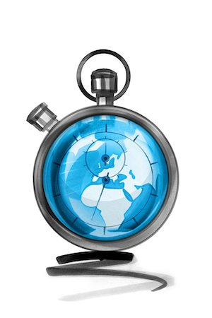 stop watch - Globe in stopwatch Stock Photo - Premium Royalty-Free, Code: 632-05554273
