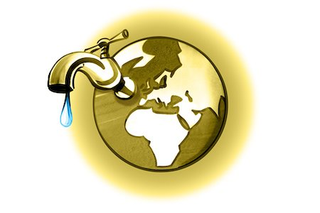 Earth with dripping faucet Stock Photo - Premium Royalty-Free, Code: 632-05554284