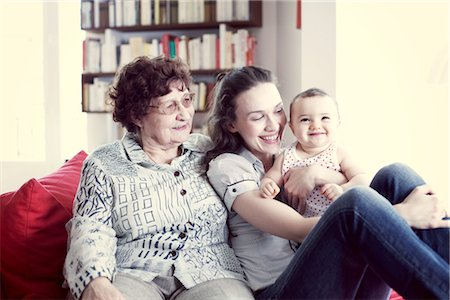 Grandmother, mother and baby girl, portrait Stock Photo - Premium Royalty-Free, Code: 632-05759697
