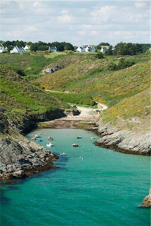 Port de Pouldon, Belle-Ile-en-Mer, Morbihan, Brittany, France Stock Photo - Premium Royalty-Free, Code: 632-05759802