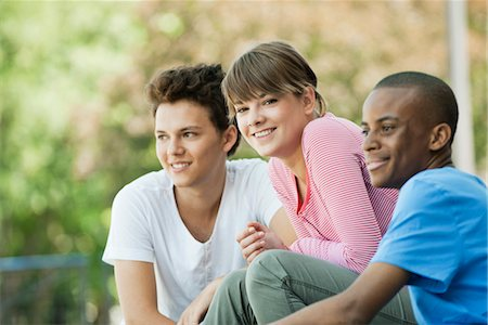 Friends hanging out together Stock Photo - Premium Royalty-Free, Code: 632-05760162