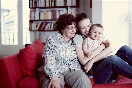Grandmother, mother and baby girl, portrait Stock Photo - Premium Royalty-Free, Code: 632-05760405