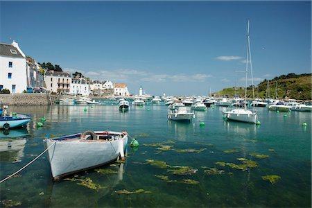 Boats in marina, Sauzon, Belle-Ile-en-Mer, Morbihan, Brittany, France Stock Photo - Premium Royalty-Free, Code: 632-05760525