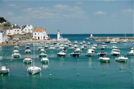 Boats in marina, Sauzon, Belle-Ile-en-Mer, Morbihan, Brittany, France Stock Photo - Premium Royalty-Free, Code: 632-05760542