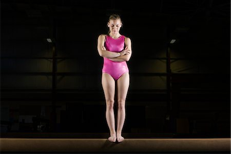 feet gymnast - Female gymnast standing on balance beam Stock Photo - Premium Royalty-Free, Code: 632-05760777