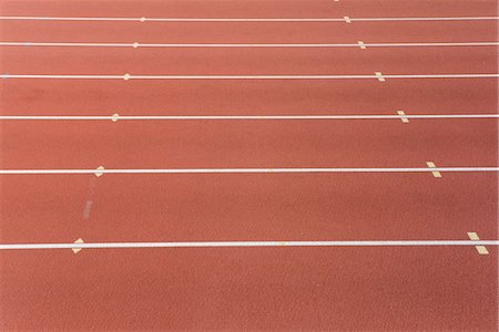 race track (people) - Lanes of running track Stock Photo - Premium Royalty-Free, Code: 632-05816125