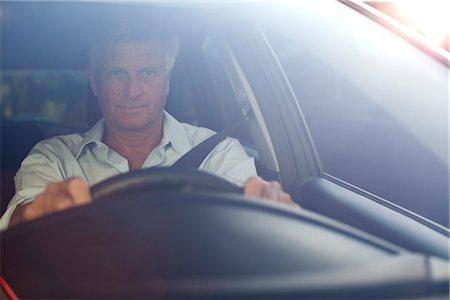 remote car - Man driving car, portrait Stock Photo - Premium Royalty-Free, Code: 632-05816175